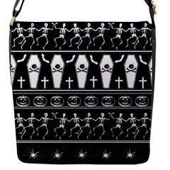 Halloween Pattern Flap Messenger Bag (s) by ValentinaDesign