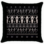 Halloween pattern Throw Pillow Case (Black) Front