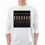 Halloween pattern White Long Sleeve T-Shirts Front