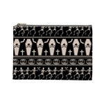 Halloween pattern Cosmetic Bag (Large)  Front