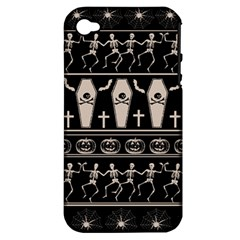 Halloween Pattern Apple Iphone 4/4s Hardshell Case (pc+silicone) by ValentinaDesign