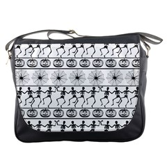 Halloween Pattern Messenger Bags by ValentinaDesign