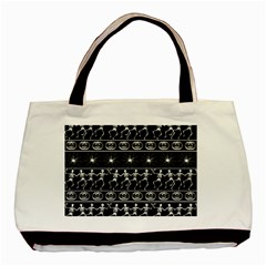 Halloween Pattern Basic Tote Bag by ValentinaDesign