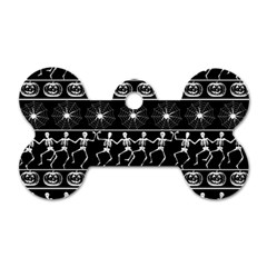 Halloween Pattern Dog Tag Bone (one Side) by ValentinaDesign