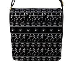 Halloween Pattern Flap Messenger Bag (l)  by ValentinaDesign