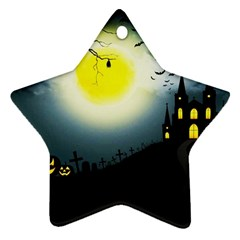 Halloween Landscape Ornament (star) by ValentinaDesign