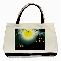 Halloween Landscape Basic Tote Bag (two Sides) by ValentinaDesign