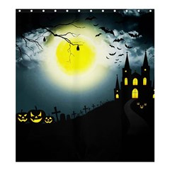 Halloween Landscape Shower Curtain 66  X 72  (large)  by ValentinaDesign