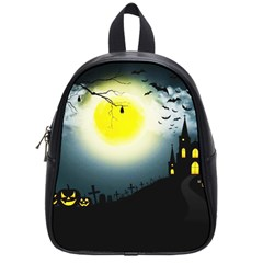 Halloween Landscape School Bag (small) by ValentinaDesign