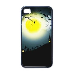Halloween Landscape Apple Iphone 4 Case (black) by ValentinaDesign