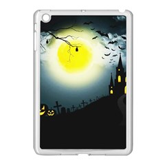 Halloween Landscape Apple Ipad Mini Case (white) by ValentinaDesign