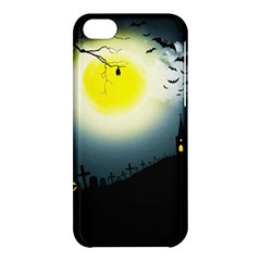 Halloween Landscape Apple Iphone 5c Hardshell Case by ValentinaDesign