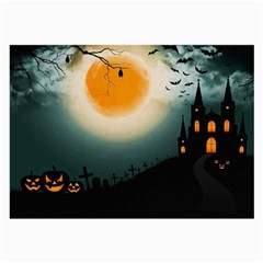 Halloween Landscape Large Glasses Cloth by ValentinaDesign