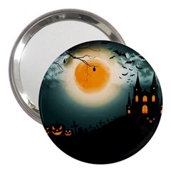 Halloween Landscape 3  Handbag Mirrors by ValentinaDesign