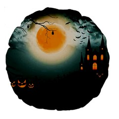 Halloween Landscape Large 18  Premium Round Cushions by ValentinaDesign