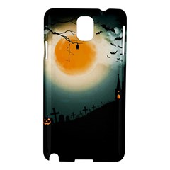 Halloween Landscape Samsung Galaxy Note 3 N9005 Hardshell Case by ValentinaDesign