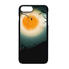 Halloween Landscape Apple Iphone 7 Plus Seamless Case (black) by ValentinaDesign