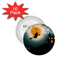 Halloween Landscape 1 75  Buttons (10 Pack) by ValentinaDesign