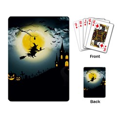 Halloween Landscape Playing Card by ValentinaDesign
