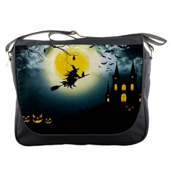Halloween Landscape Messenger Bags by ValentinaDesign