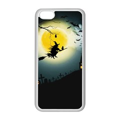 Halloween Landscape Apple Iphone 5c Seamless Case (white) by ValentinaDesign