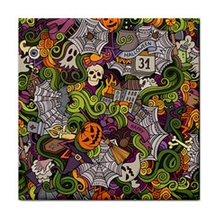Halloween Pattern Tile Coasters by ValentinaDesign