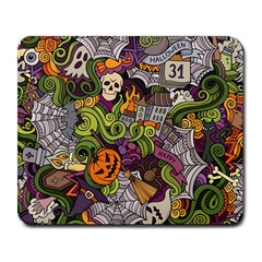 Halloween Pattern Large Mousepads by ValentinaDesign