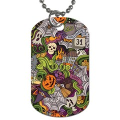 Halloween Pattern Dog Tag (one Side) by ValentinaDesign
