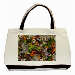 Halloween Pattern Basic Tote Bag (two Sides) by ValentinaDesign