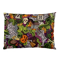 Halloween Pattern Pillow Case by ValentinaDesign