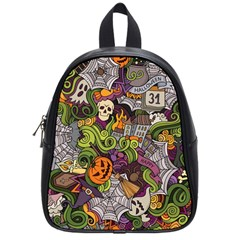 Halloween Pattern School Bag (small) by ValentinaDesign