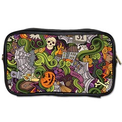 Halloween Pattern Toiletries Bags 2 Side by ValentinaDesign