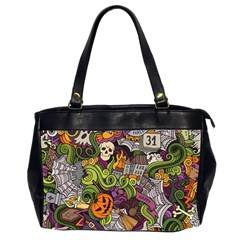Halloween Pattern Office Handbags (2 Sides)  by ValentinaDesign