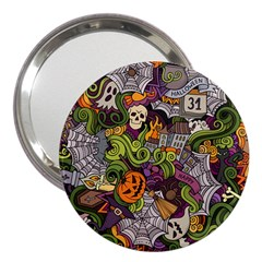 Halloween Pattern 3  Handbag Mirrors by ValentinaDesign