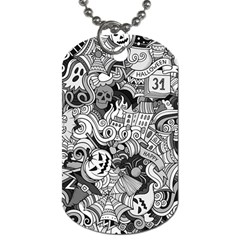Halloween Pattern Dog Tag (two Sides) by ValentinaDesign