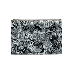 Halloween Pattern Cosmetic Bag (medium)  by ValentinaDesign