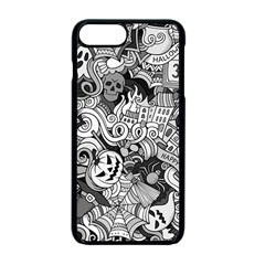 Halloween Pattern Apple Iphone 7 Plus Seamless Case (black) by ValentinaDesign