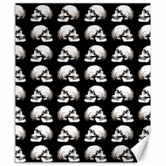 Halloween Skull Pattern Canvas 20  X 24   by ValentinaDesign