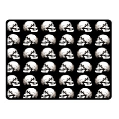 Halloween Skull Pattern Double Sided Fleece Blanket (small)  by ValentinaDesign