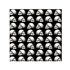 Halloween Skull Pattern Small Satin Scarf (square)