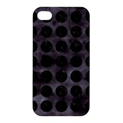 Circles1 Black Marble & Black Watercolor (r) Apple Iphone 4/4s Hardshell Case by trendistuff