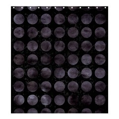 Circles1 Black Marble & Black Watercolor Shower Curtain 66  X 72  (large)  by trendistuff