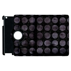 Circles1 Black Marble & Black Watercolor Apple Ipad 3/4 Flip 360 Case by trendistuff