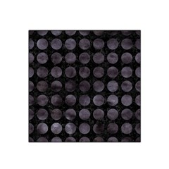 Circles1 Black Marble & Black Watercolor Satin Bandana Scarf by trendistuff
