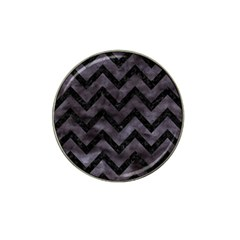 Chevron9 Black Marble & Black Watercolor (r) Hat Clip Ball Marker (10 Pack) by trendistuff