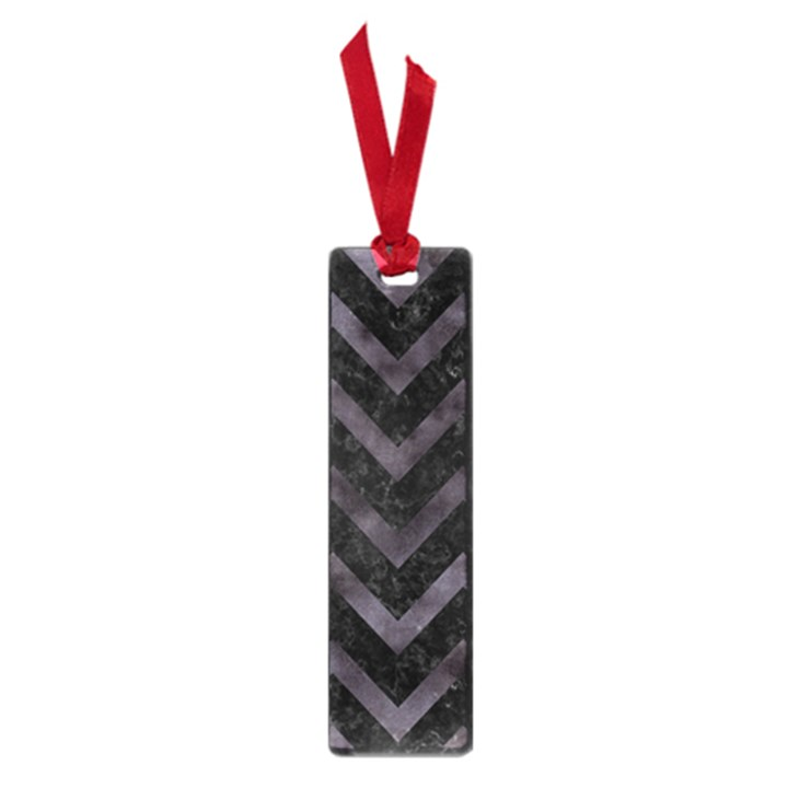 CHEVRON9 BLACK MARBLE & BLACK WATERCOLOR Small Book Marks