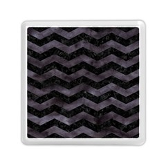 Chevron3 Black Marble & Black Watercolor Memory Card Reader (square)  by trendistuff