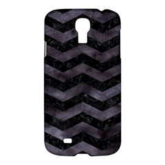Chevron3 Black Marble & Black Watercolor Samsung Galaxy S4 I9500/i9505 Hardshell Case by trendistuff