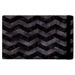 Chevron3 Black Marble & Black Watercolor Apple Ipad Pro 12 9   Flip Case by trendistuff