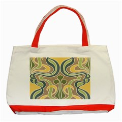 Art Nouveau Classic Tote Bag (red) by 8fugoso